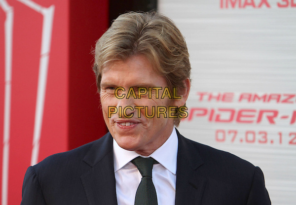"Denis Leary.Los Angeles Premiere Of ""The Amazing Spider-Man"" Held The at Regency Village Theatre, Westwood, California, USA..June 28th, 2012.headshot portrait black suit white shirt tie green.CAP/ADM/FS.©Faye Sadou/AdMedia/Capital Pictures."