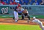 4 July 2010: Washington Nationals outfielder Roger Bernadina in his 9th inning plate appearance against the New York Mets at Nationals Park in Washington, DC. The Mets defeated the Nationals 9-5, splitting their 4-game series. Mandatory Credit: Ed Wolfstein Photo