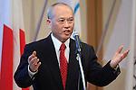 Yoichi Masuzoe, April 3, 2014 : 1st IOC project Review was held at Shinagawa Prince Hotel in Tokyo, Japan. (Photo by AFLO SPORT)