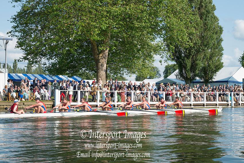 Henley Royal Regatta, Henley on Thames, Oxfordshire, 3-7 July 2013.  Thursday  18:08:18   04/07/2013  [Mandatory Credit/Intersport Images]<br /> <br /> Rowing, Henley Reach, Henley Royal Regatta.<br /> <br /> The Princess Elizabeth Challenge Cup<br /> Scotch College, Melbourne, Australia