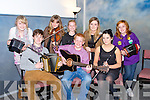 CULTURE NIGHT: Member's of the Sliabh Mish C.C.E. entertaining the crowds at the Kerry County Museum as part of Tralee Culture Night on Friday seated l-r: Michael O'Shea, Morgan Sayers and Cliona Daly. Back l-r: Heather Grey, Megan O'Connor, Jasmin Grey, Siobhan Griffin and Ashling O'Neill.