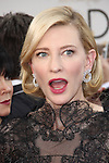 Cate Blanchett    arriving at  the  71st Annual Golden Globe  Awards  on January 12, 2014 at  the  Beverly Hilton Hotel  Beverly Hills,California,USA. Photo:TLowe