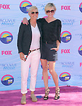 Ellen DeGeneres and Portia de Rossi at FOX's 2012 Teen Choice Awards held at The Gibson Ampitheatre in Universal City, California on July 22,2012                                                                               © 2012 Hollywood Press Agency