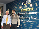 Gary Dunne and his dad Bryan at the opening Dunne's Centra Ardee. Photo:Colin Bell/pressphotos.ie