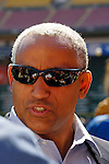 11 April 2006: Omar Minaya, General Manager of the New York Mets, answers questions from the media prior to the Washington Nationals' Home Opener at RFK Stadium, in Washington, DC. The Mets defeated the Nationals 7-1 to maintain their lead in the NL East...Mandatory Photo Credit: Ed Wolfstein Photo..