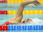 Stephanie Dixon in the pool in the 400 m freestyle. she won silver.<br />