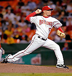 19 May 2007: Washington Nationals pitcher Saul Rivera in action against the Baltimore Orioles at RFK Stadium in Washington, DC. The Orioles defeated the Nationals 3-2 in the second game of the 3-game interleague series...Mandatory Photo Credit: Ed Wolfstein Photo
