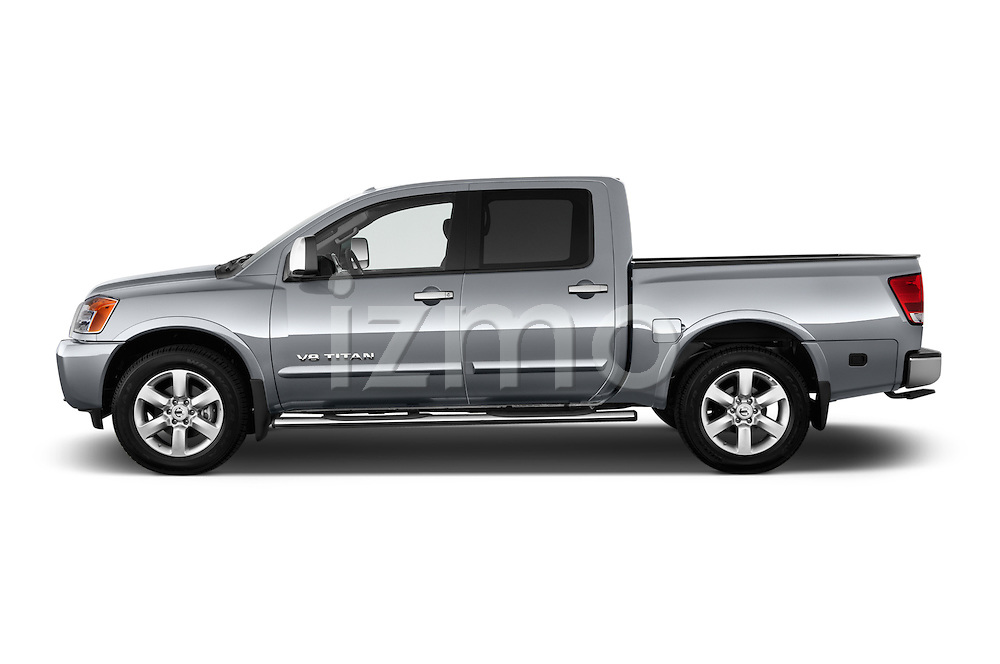 Driver side profile view of a 2013 Nissan Titan SL Crew Cab 2wd