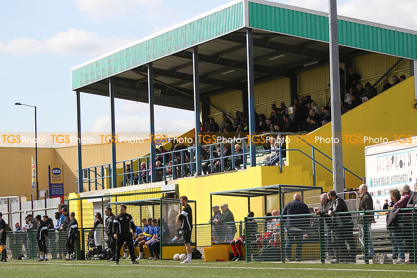 General view of the Main stand during Haringey Borough vs Bowers & Pitsea, Ryman League Division 1 North Football at Coles Park Stadium on 15th April 2017