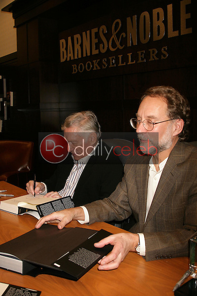 Hugh Hefner and Steven Watts <br /> at an in store appearance signing copies of his books 'Mr. Playboy' and 'Playboy The Complete Centerfolds'. Barnes and Noble the Grove, Los Angeles, CA. 12-16-08<br /> Dave Edwards/DailyCeleb.com 818-249-4998