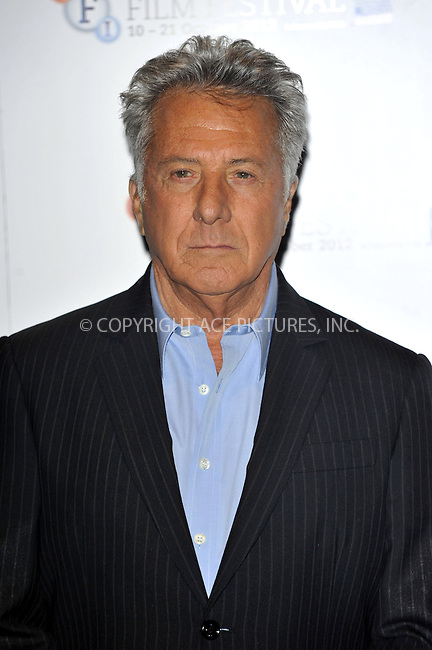 WWW.ACEPIXS.COM....US Sales Only....October 15 2012, London....Dustin Hoffman at the photocall for 'Quartet' during the 56th BFI London Film Festival on October 15 2012 in London....By Line: Famous/ACE Pictures......ACE Pictures, Inc...tel: 646 769 0430..Email: info@acepixs.com..www.acepixs.com