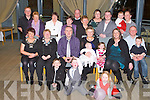 CHRISTENING: Proud parents Richard and Avril Godley Hemel Hempstead, England (originally Ballyheigue) of little Freya who was Christened by Fr Tom Leane at St Mary's Church, Ballyheigue and celebrated afterwards with family and friends at the Ballyroe Heights hotel front l-r: Tristian Power, Keelin Beat and Katie Godley. Seated l-r: Margaret Power, Helen O'Leary, Richard, Avril, Freya, Ellie, Lucy, Mark and J.P. Godley. Back l-r: John Godley, Peg Blackett, Noelle Duggan, Kitty Godley, Johnvoe Burkett, Teresa Burkett, Karen Best, Joseph Burkett, Erica Power and John Power.