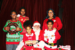 Hearts of Gold Christmas Party for mothers and their children held on December 21, 2017 in New York City, New York. Santa was there to celebrate with all.  Deborah Koenigsberger, chairman and CEO of Hearts of Gold spear headed the event. (Photo by Sue Coflin/Max Photo)