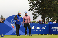 Caroline Masson of Team Europe on the 2nd tee during Day 2 Fourball at the Solheim Cup 2019, Gleneagles Golf CLub, Auchterarder, Perthshire, Scotland. 14/09/2019.<br /> Picture Thos Caffrey / Golffile.ie<br /> <br /> All photo usage must carry mandatory copyright credit (© Golffile | Thos Caffrey)