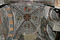 saints,Acanthus,cross-vault paintings,South-west chapel,Katholikon Church of St. Luke,11th Century,Osios Loukas Monastery,Greece