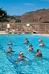 Aqua-robics fitness class in pool at Red Mountain Resort, Ivins, Utah's Dixie, near St. George, UTAH