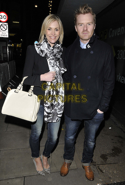 LONDON, ENGLAND - FEBRUARY 27: Jenni Falconer &amp; James Midgley attend the &quot;War Horse&quot; NT Live gala performance, The New London Theatre, Drury Lane, on Thursday February 27, 2014 in London, England, UK.<br /> CAP/CAN<br /> &copy;Can Nguyen/Capital Pictures