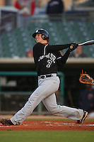 April 28 2009: Buster Posey of the San Jose Giants bats against the Lancaster JetHawks at Clear Channel Stadium in Lancaster,CA.  Photo by Larry Goren/Four Seam Images