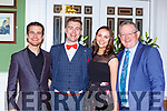 Pat, Brendan and Mike Fuller at the Kerrys Stars ball in the Dromhall Hotel on Saturday night