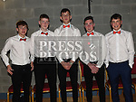 David O'Connell, Conor Rogers, Mark Carroll, Jake Campbell and Finbar Lynch at the Trio Royale show in St. Kevins GAA club Philipstown. Photo:Colin Bell/pressphotos.ie