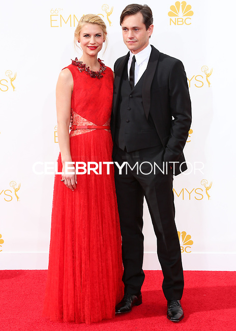 LOS ANGELES, CA, USA - AUGUST 25: Actress Claire Danes and Hugh Dancy arrive at the 66th Annual Primetime Emmy Awards held at Nokia Theatre L.A. Live on August 25, 2014 in Los Angeles, California, United States. (Photo by Celebrity Monitor)