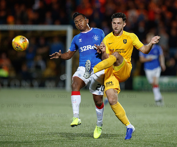 25.09.2018 Livingston v Rangers: Alfredo Morelos and Ricki Lamie