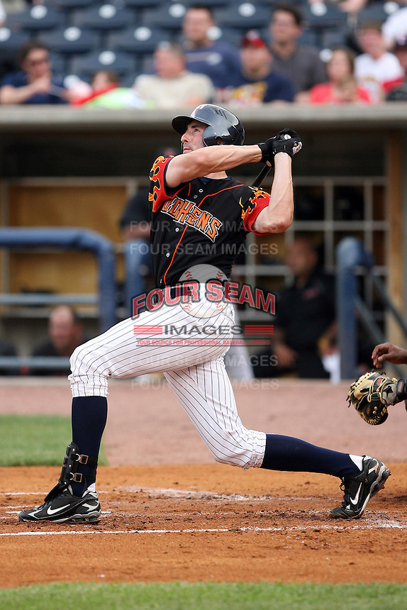 June 12th 2008:  Ryan Roberson of the Toledo Mudhens, Class-AAA affiliate of the Detroit Tigers, during a game at Fifth Third Field in Toledo, OH.  Photo by:  Mike Janes/Four Seam Images