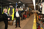 Jersey Central Power & Light Vice President of Operations Anthony Hurley (R) gives a facility tour to Acting Governor Kim Guadango (L) after a media briefing on Winter Storm Jonas preparations in Union Beach, New Jersey on Friday January 22, 2016.