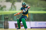 Ferisco Adams of South Africa hits a shot during Day 2 of Hong Kong Cricket World Sixes 2017 Cup final match between Pakistan vs South Africa  at Kowloon Cricket Club on 29 October 2017, in Hong Kong, China. Photo by Yu Chun Christopher Wong / Power Sport Images