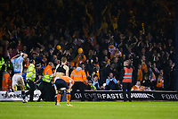 Blackpool fans celebrate at the final whistle<br /> <br /> Photographer Craig Mercer/CameraSport<br /> <br /> The EFL Sky Bet League Two Play-Off Semi Final Second Leg - Luton Town v Blackpool - Thursday 18th May 2017 - Kenilworth Road - Luton<br /> <br /> World Copyright &copy; 2017 CameraSport. All rights reserved. 43 Linden Ave. Countesthorpe. Leicester. England. LE8 5PG - Tel: +44 (0) 116 277 4147 - admin@camerasport.com - www.camerasport.com