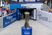 ORLANDO, FL - MARCH 05: SheBelieves trophy during a game between Spain and Japan at Exploria Stadium on March 05, 2020 in Orlando, Florida.