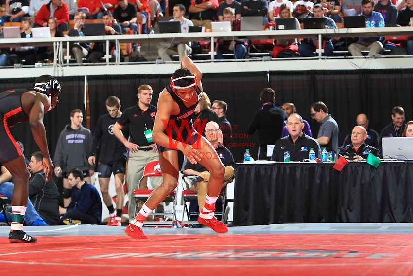 The Ohio State University Wrestling Team took the Team Co-Championship, tied with Iowa at the 2015 Big Ten Wrestling Championships. Columbus, OH. March 7-8, 2015