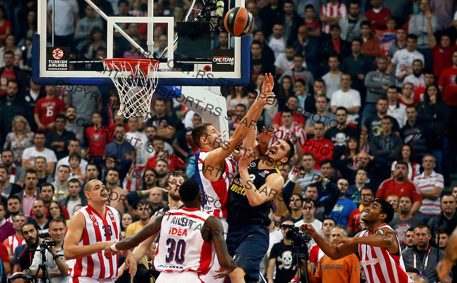 Stefan Jovic Nikola Kalinic Euroleague basketball game between Crvena Zvezda and Fenerbahce on Novembar 6. 2015 Beograd, Srbija, 6.11.2015.  (credit image & photo: Pedja Milosavljevic / STARSPORT)