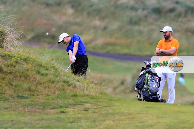 Joshua Robinson (Lisburn) during Round 2 of the North of Ireland Amateur Open Championship 2019 at Portstewart Golf Club, Portstewart, Co. Antrim on Tuesday 9th July 2019.<br /> Picture:  Thos Caffrey / Golffile<br /> <br /> All photos usage must carry mandatory copyright credit (© Golffile | Thos Caffrey)