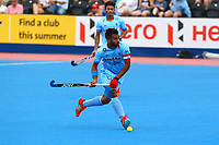 Manpreet Singh in action for India during the Hockey World League Quarter-Final match between India and Malaysia at the Olympic Park, London, England on 22 June 2017. Photo by Steve McCarthy.