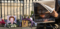 08.04.2013 - Margaret Thatcher's Death - 73 Chester Square