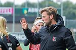 AMSTELVEEN - coach Robert Tigges (Adam)    voor de hoofdklasse hockeywedstrijd dames,  Amsterdam-Den Bosch (1-1).   COPYRIGHT KOEN SUYK