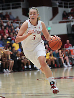 STANFORD, CA:  Mikaela Ruef during Stanford's 82-35 victory over Arizona State at Stanford, California on January 8, 2011.