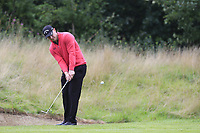 Scott Henry (SCO) chips onto the 1st green during Sunday's Final Round of the Northern Ireland Open 2018 presented by Modest Golf held at Galgorm Castle Golf Club, Ballymena, Northern Ireland. 19th August 2018.<br /> Picture: Eoin Clarke | Golffile<br /> <br /> <br /> All photos usage must carry mandatory copyright credit (&copy; Golffile | Eoin Clarke)