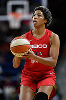 Washington, DC - August 25, 2019: Washington Mystics forward Tianna Hawkins (21) sets up to shoot the ball during second half action of game between the New York Liberty and the Washington Mystics at the Entertainment and Sports Arena in Washington, DC. The Mystics defeated New York 101-72. (Photo by Phil Peters/Media Images International)