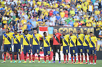 Photo before the match Brazil vs Ecuador, Corresponding Group -B- America Cup Centenary 2016, at Rose Bowl Stadium<br /> <br /> Foto previo al partido Brasil vs Ecuador, Correspondiante al Grupo -B-  de la Copa America Centenario USA 2016 en el Estadio Rose Bowl, en la foto: Seleccion de Ecuador<br /> <br /> <br /> 04/06/2016/MEXSPORT/Omar Martinez.