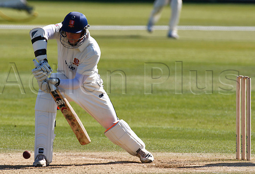28.03.2012. Chlemsford, Essex, England. Billy Godleman of Essex County Cricket in action..during pre season Friendly match between Essex Vs Worcestershire at The Ford County Ground, Chelmsford, Essex