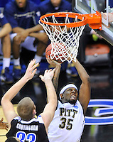 Nasir Robinson of the Panthers attacks the basket. Pittsburgh defeated UNC-Asheville 74-51 during the NCAA tournament at the Verizon Center in Washington, D.C. on Thursday, March 17, 2011. Alan P. Santos/DC Sports Box