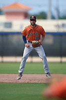 Houston Astros first baseman David Hensley (89) during a Minor League Spring Training Intrasquad game on March 28, 2019 at the FITTEAM Ballpark of the Palm Beaches in West Palm Beach, Florida.  (Mike Janes/Four Seam Images)