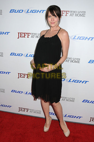 "Katie Aselton .""Jeff, Who Lives At Home"" Los Angeles Premiere held at the Directors Guild of America, West Hollywood, California, USA..March 7th, 2012.full length dress black pregnant  .CAP/ADM/BP.©Byron Purvis/AdMedia/Capital Pictures."