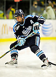 29 January 2010: University of Maine Black Bears' defenseman Jeff Dimmen, a Junior from Colorado Springs, CO, in first period action against the University of Vermont Catamounts at Gutterson Fieldhouse in Burlington, Vermont. The Black Bears defeated the Catamounts 6-3 in the first game of their America East weekend series. Mandatory Credit: Ed Wolfstein Photo