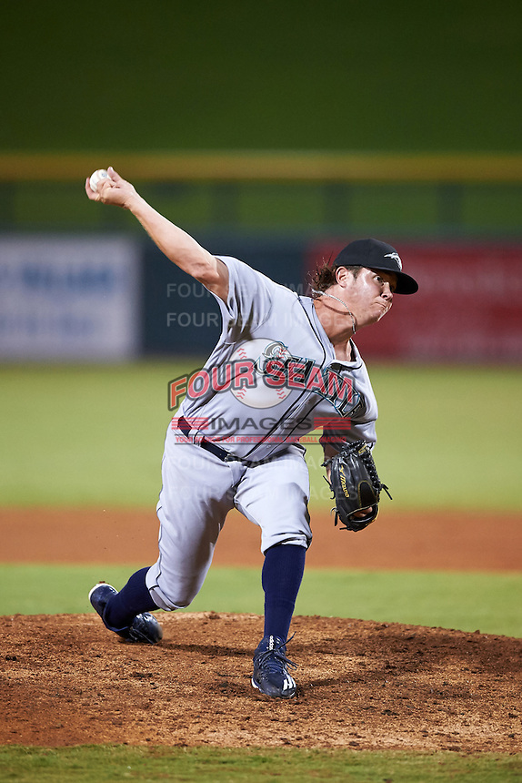 Peoria Javelinas pitcher Emilio Pagan (56), of the Seattle Mariners organization, during a game against the Mesa Solar Sox on October 15, 2016 at Sloan Park in Mesa, Arizona.  Peoria defeated Mesa 12-2.  (Mike Janes/Four Seam Images)