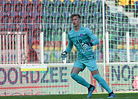 20191022 – OOSTENDE , BELGIUM : PSG's goalkeeper Denis Franchi pictured during a soccer game between Club Brugge KV and Paris Saint-Germain ( PSG )  on the third matchday of the UEFA Youth League – Champions League season 2019-2020 , thuesday  22 th October 2019 at the Versluys Arena in Oostende  , Belgium  .  PHOTO SPORTPIX.BE   DAVID CATRY