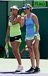 March 29 2017: Andreja Klepac (SLO)/Maria Jose Martinez Sanchez (ESP) loses to Martina Hingis (SUI)/Yung-Jan Chan (TPE) 6-4, 6-2, at the Miami Open being played at Crandon Park Tennis Center in Miami, Key Biscayne, Florida. ©Karla Kinne/tennisclix/EQ