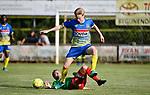 2018-06-30 / Voetbal / Seizoen 2018-2019 / KFC Houtvenne - KVC Westerlo / Senne Van Bauwel (Houtvenne) met de tackle op Guillaume De Schryver<br /> <br /> ,Foto: Mpics